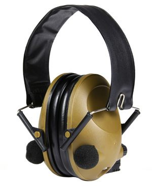 Chrániče sluchu elektronické - skládací - Černá