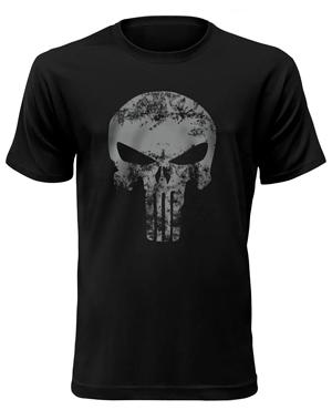 Tričko krátký rukáv - Punisher - Černá